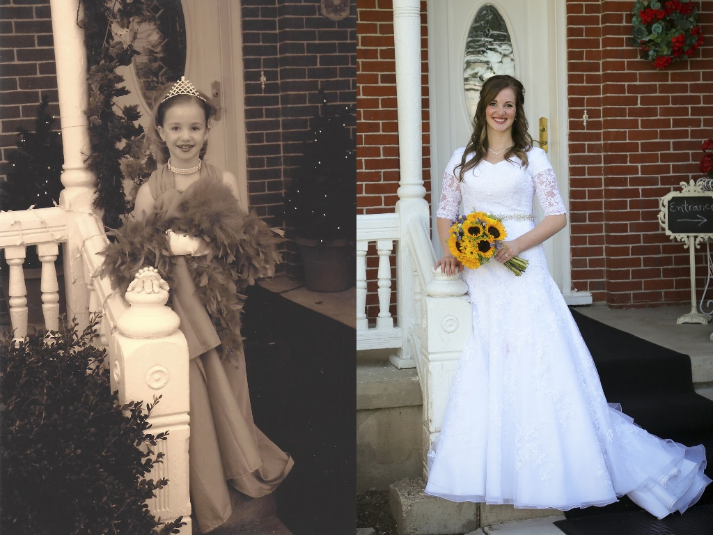 Pictures taken 12 years apart at The Victorian.