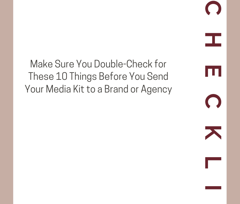 The Most Important Elements of an Influencer Media Kit