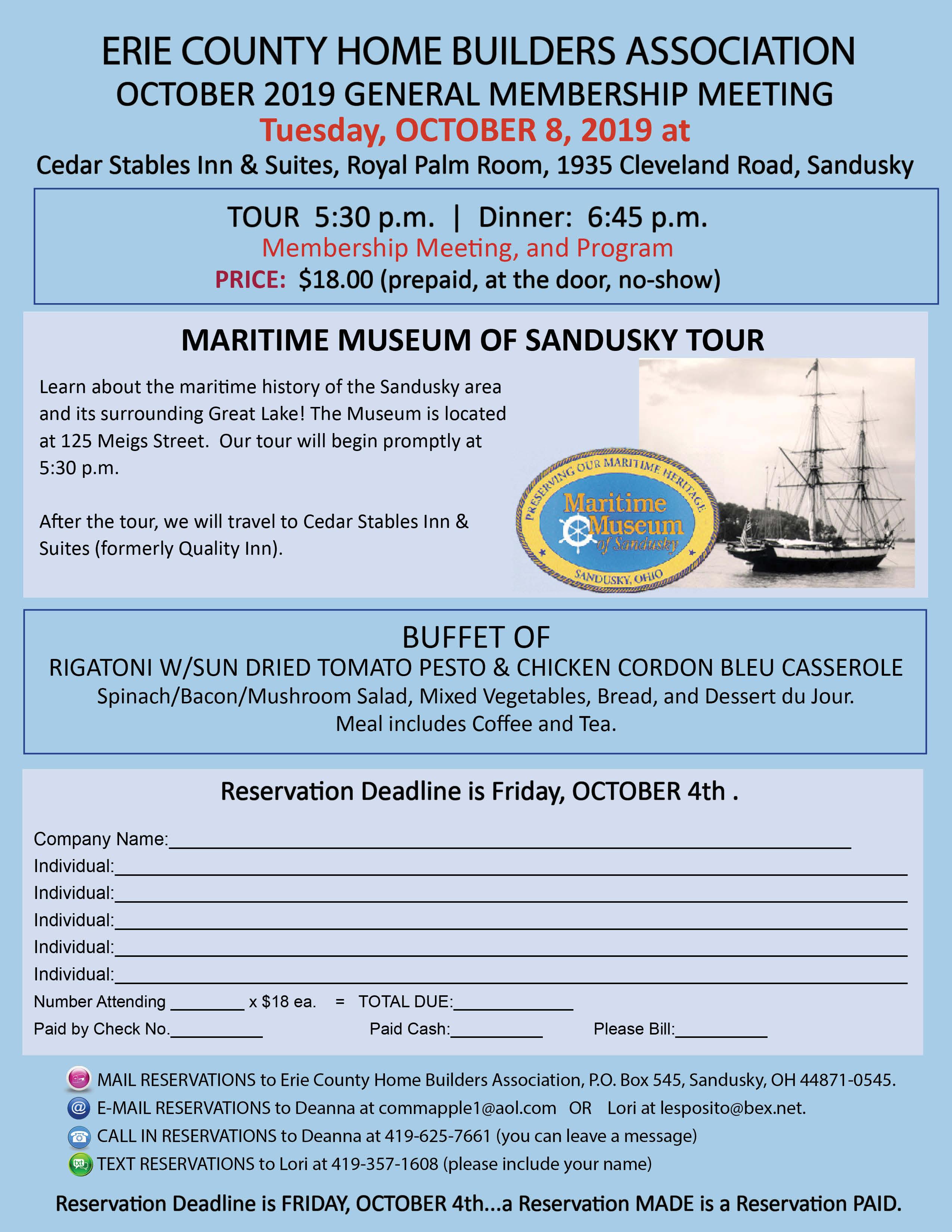 October 2019 Meeting Flyer