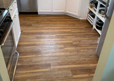 kitchen remodel with new floor