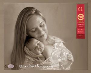 Sandbar newborn photography Wrapped-in-Love-third-place-300x240