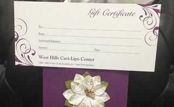 Cavi-Lipo Gift Certificates are here! Img