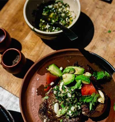 Pan Roasted Pork Chops with Chimichurri