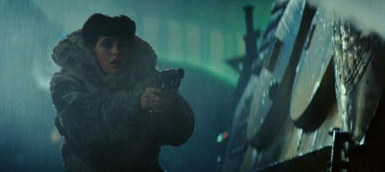Actress Sean Young plays android Rachael Rosen in the film Blade Runner, 1982 (dir: Ridley Scott)