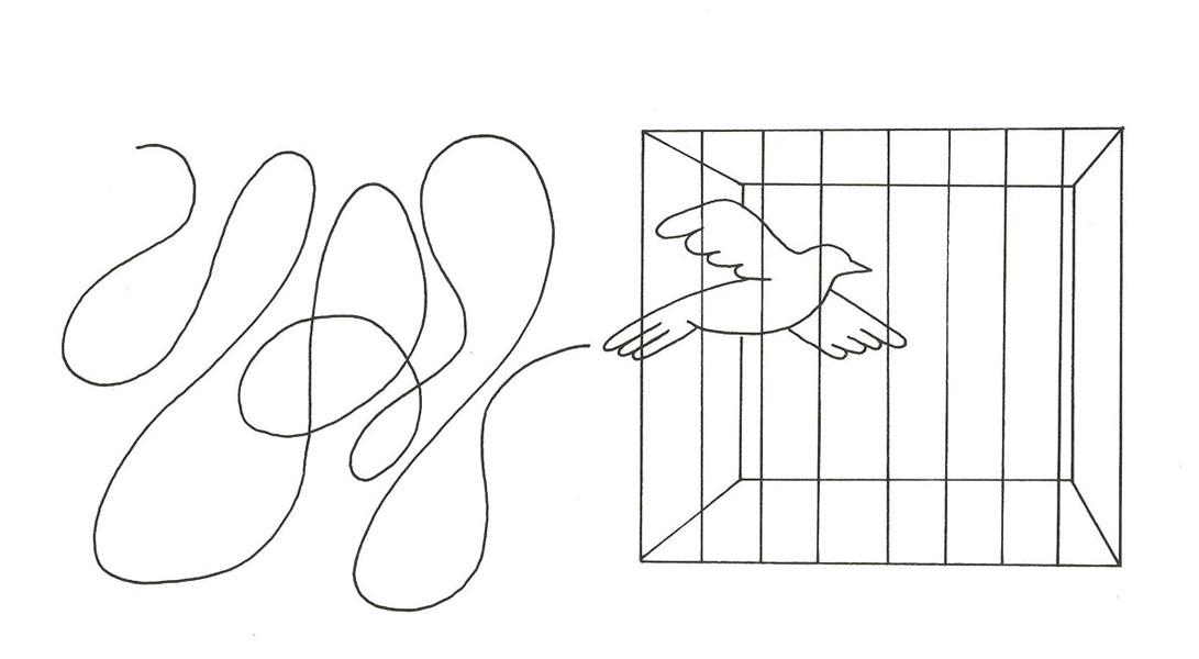 Ed McKean. Caged Flight, 2000