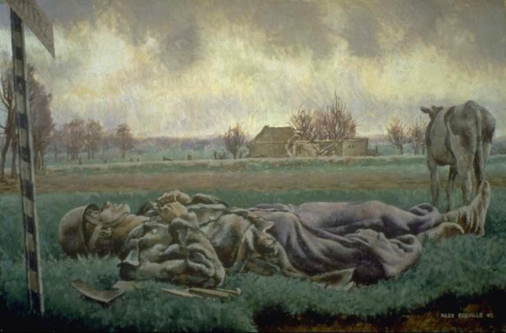 AlexColville.TragicLandscape,1946