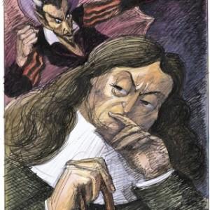 Milton and Satan illustrated by Edward Sorel
