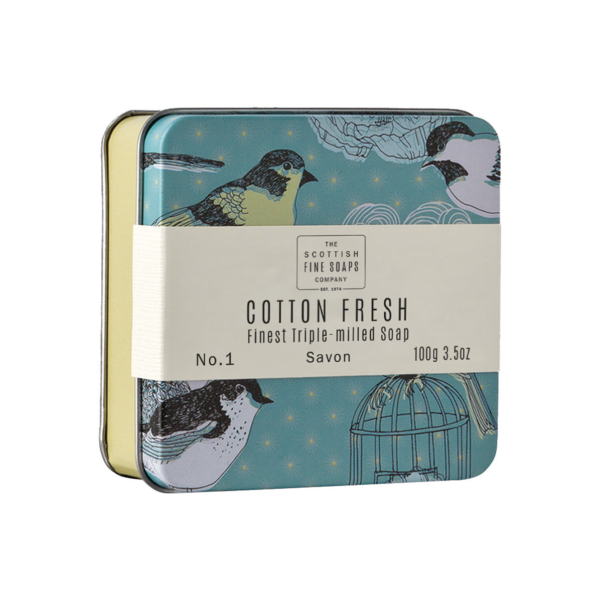 Cotton Fresh Soap In A Tin – Vintage Collection