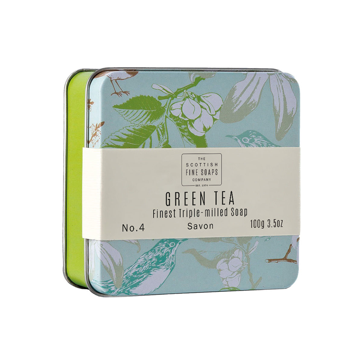 Green Tea Soap In A Tin – Vintage Collection