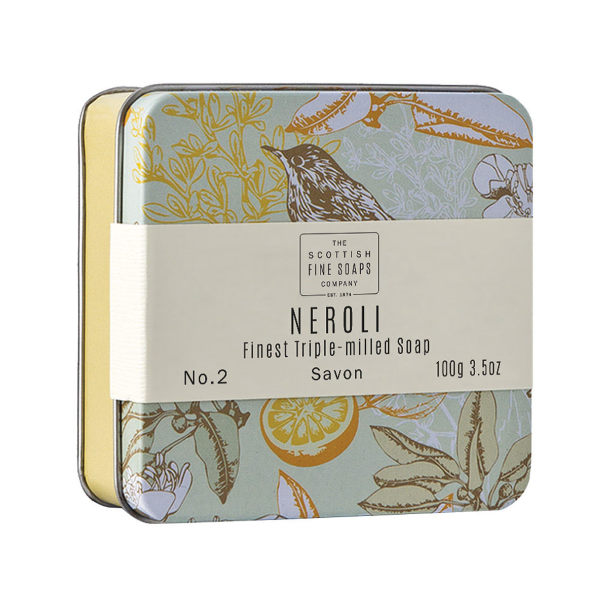 Neroli Soap In A Tin – Vintage Collection