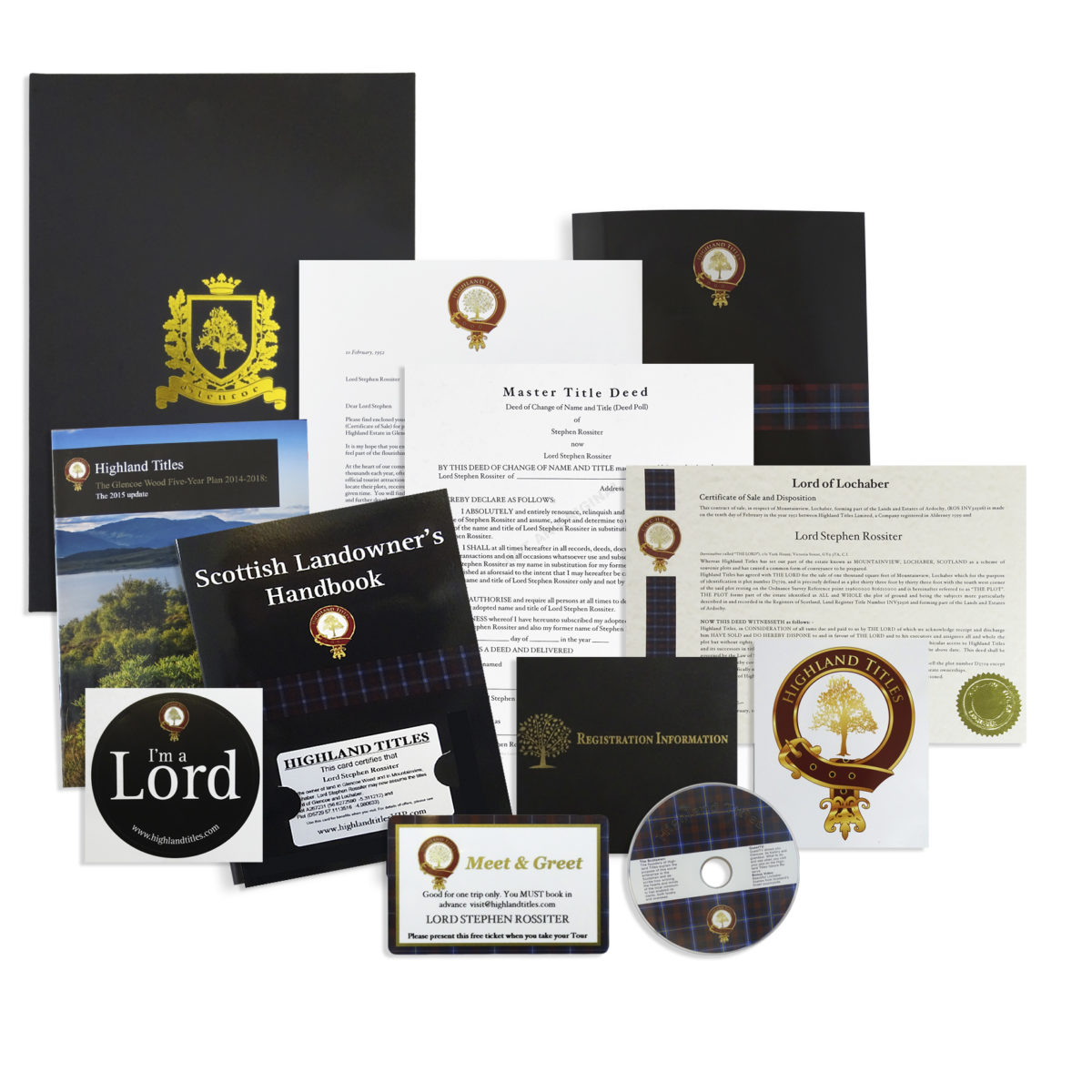 Become a Laird, Lord or Lady of Glencoe Package 3