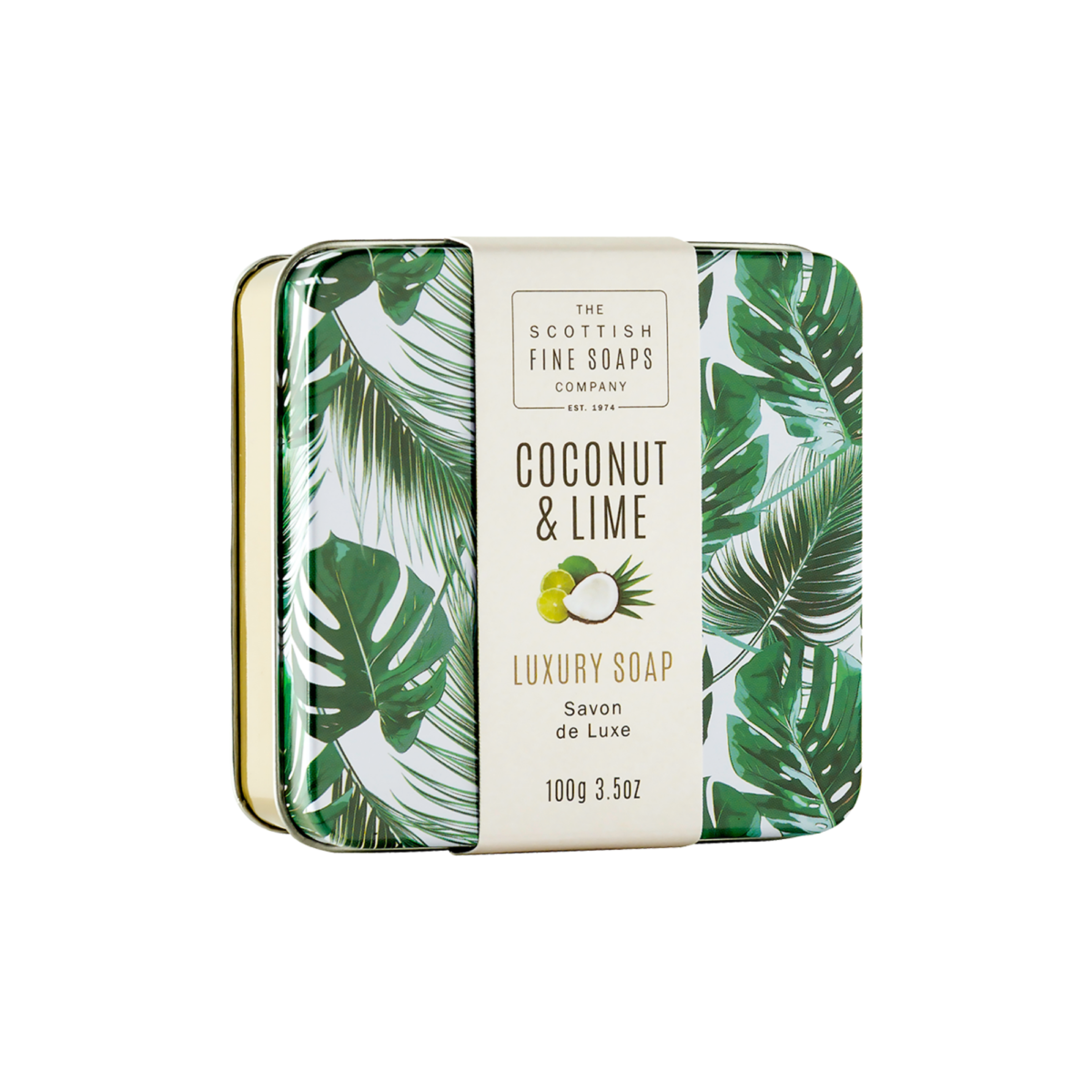 Coconut & Lime Soap In A Tin