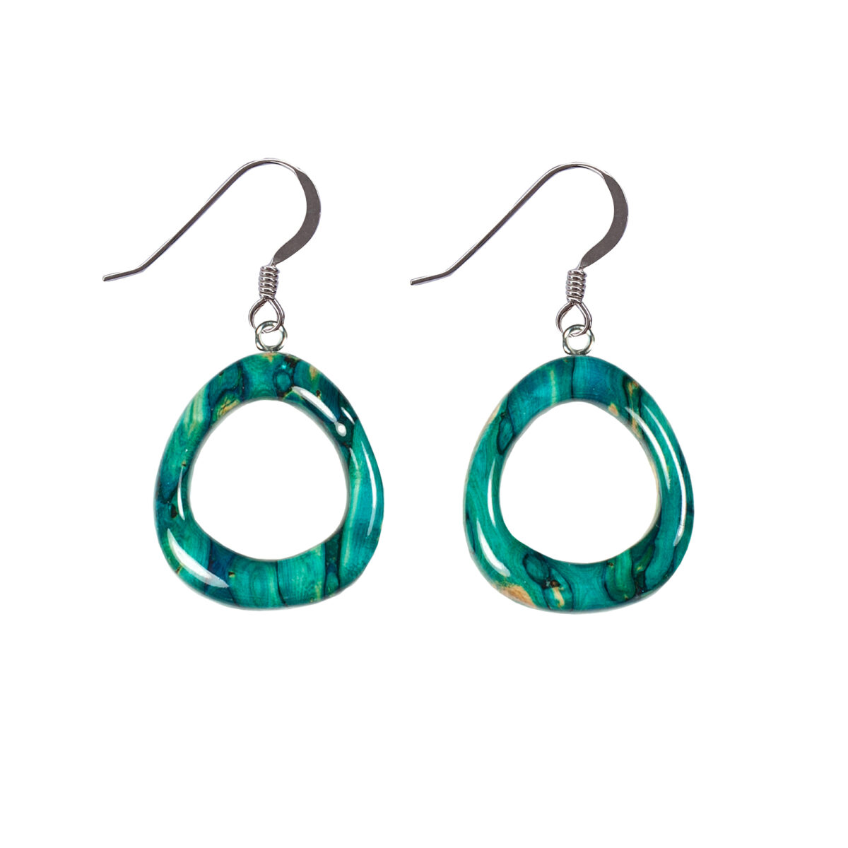 Rounded Triangle Drop Earrings
