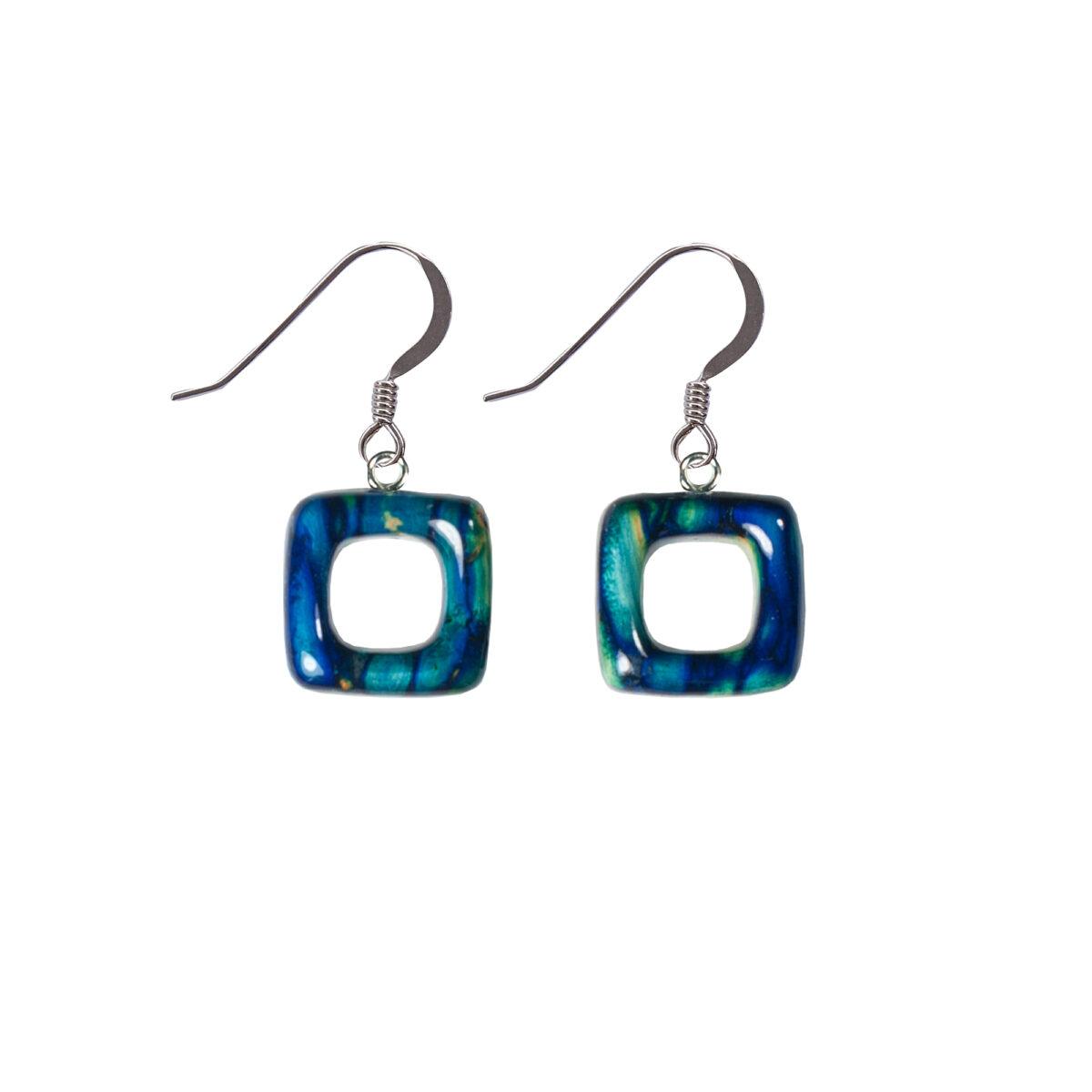 Open Square Drop Earrings