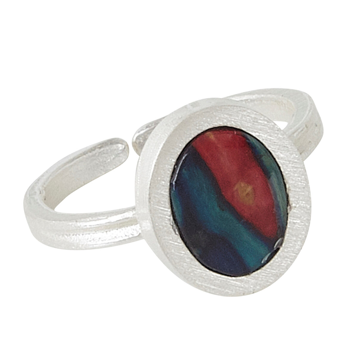 Ness Oval Satin Ring