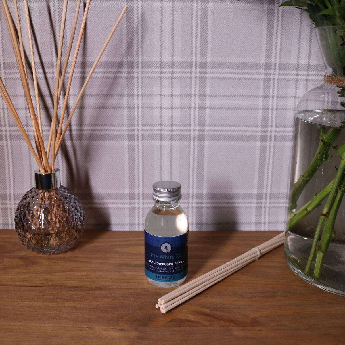 Little White Rose Reed Diffuser Refill