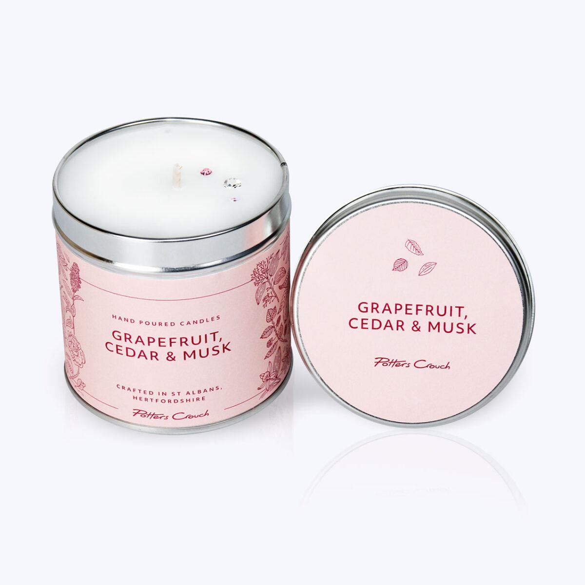 Grapefruit, Cedar & Musk Wellness Candle - For Vitality