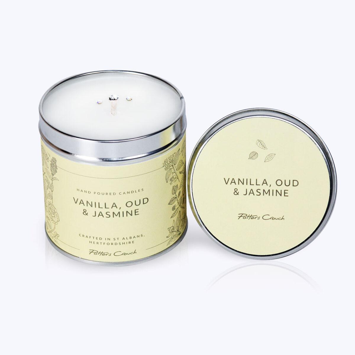 Vanilla, Oud & Jasmine Wellness Candle – For A Sense Of Calm