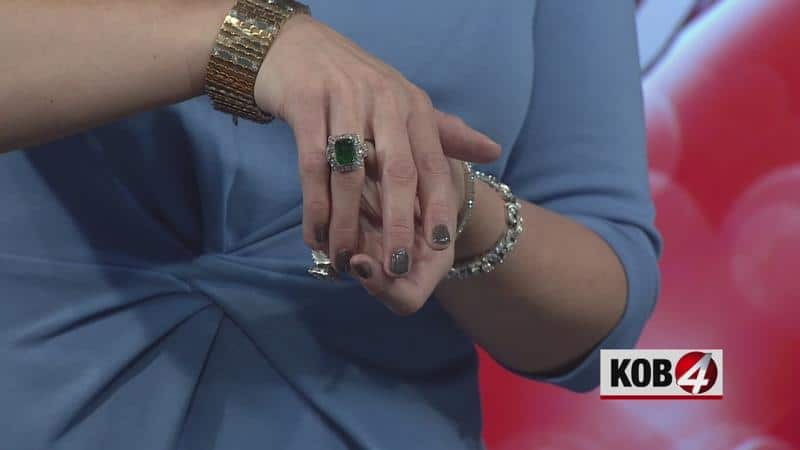 We Showcased Our Antique Jewelry on KOB TV
