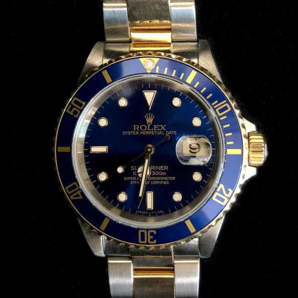 Rolex Two-tone Submariner Date with Blue Dial