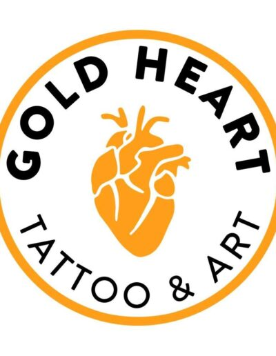 Gold Heart Tattoo