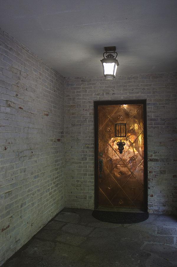Taylor Made Retreat Addiction recovery main metal door entry in Portland Beaverton area