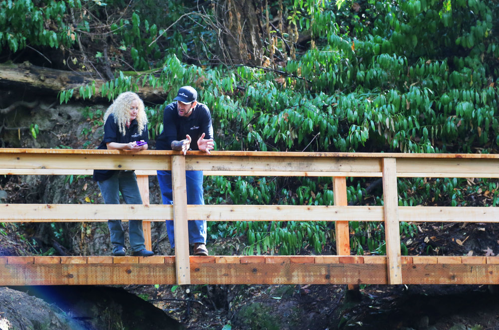 Taylor Made Retreat Addiction peer recovery specialists in Portland Beaverton outside on bridge