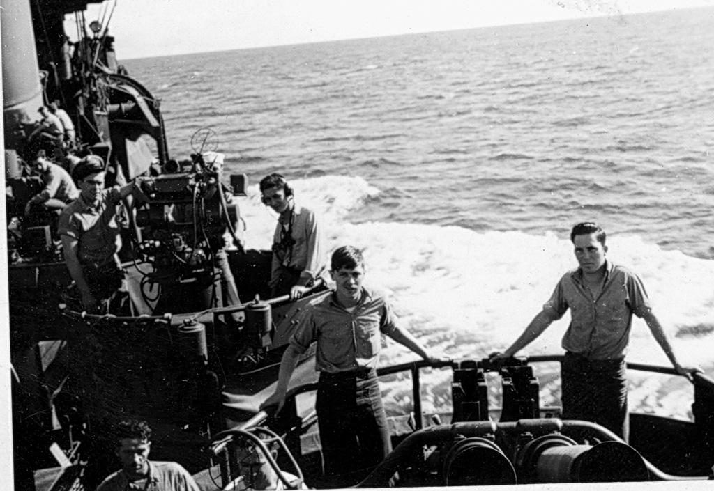Patrolling off the coast of occupied Japan