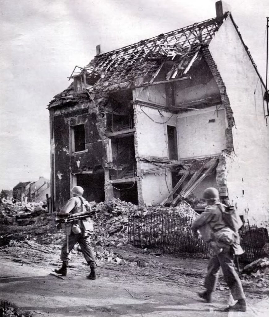 The 883rd sees their first combat action near Lixing, France, only 1.5 miles from German border.
