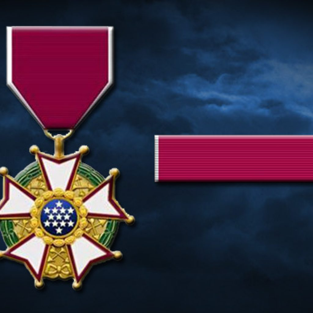Battalion Sergeant receives the Legion of Merit