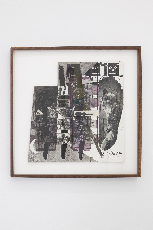 Ray Johnson Untitled (L.L. Bean), 1975-1991 Collage on illustration board © Ray Johnson Estate, Courtesy Richard L. Feigen & Co.