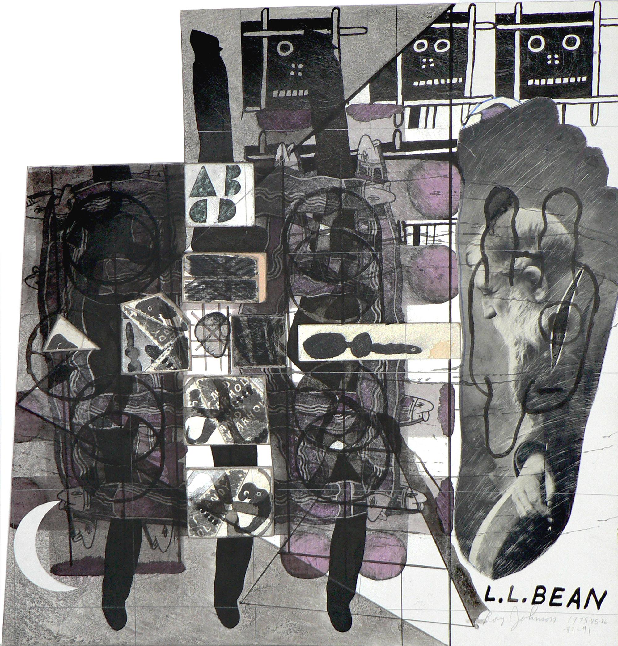 Ray Johnson Untitled (L.L. Bean) (Detail), 1975-1991 Collage on illustration board © Ray Johnson Estate, Courtesy Richard L. Feigen & Co.Ray Johnson