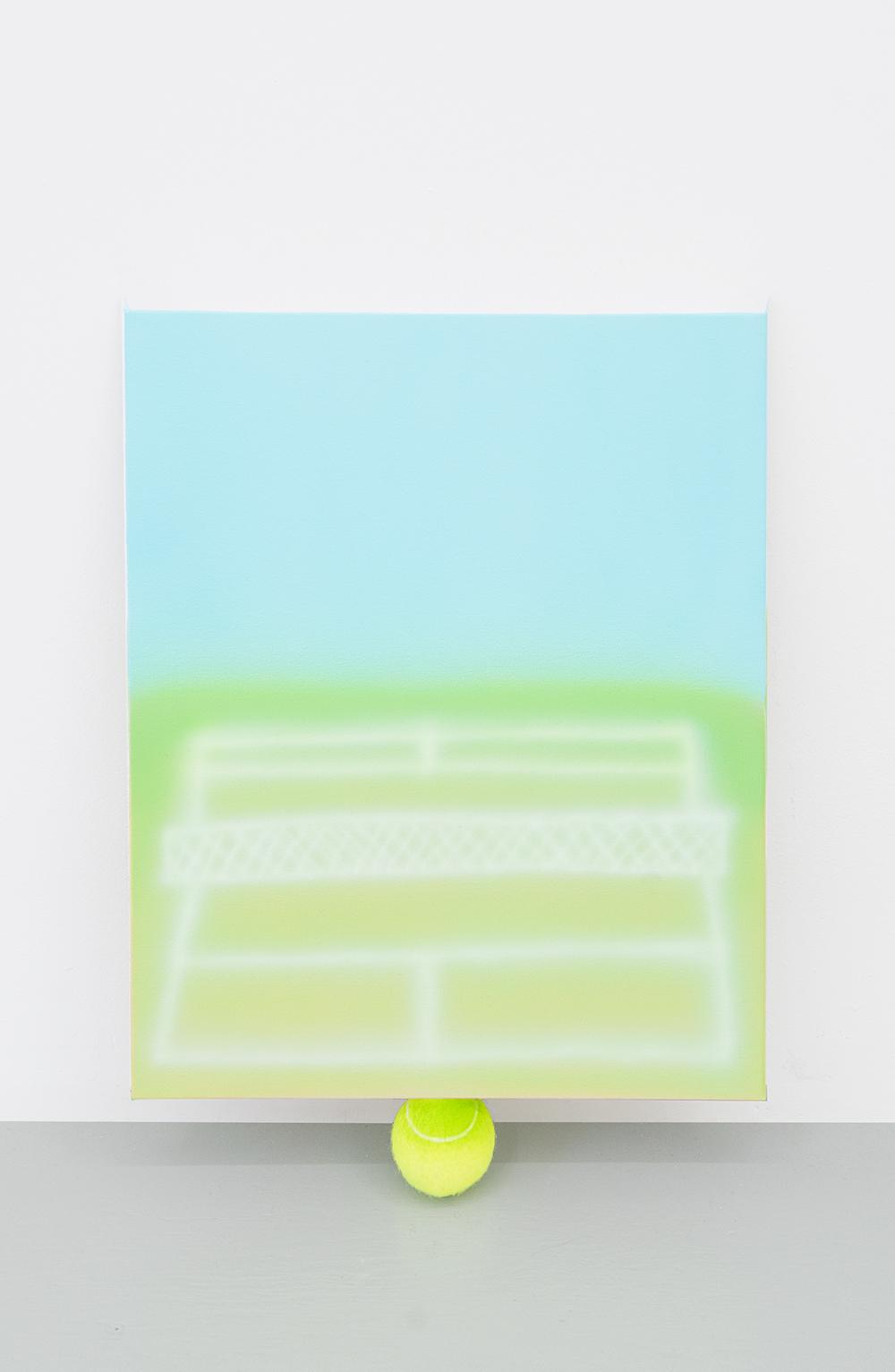 Jonny Paul Gillette Goal on tennis ball ball Acrylic polymer on canvas, tennis ball