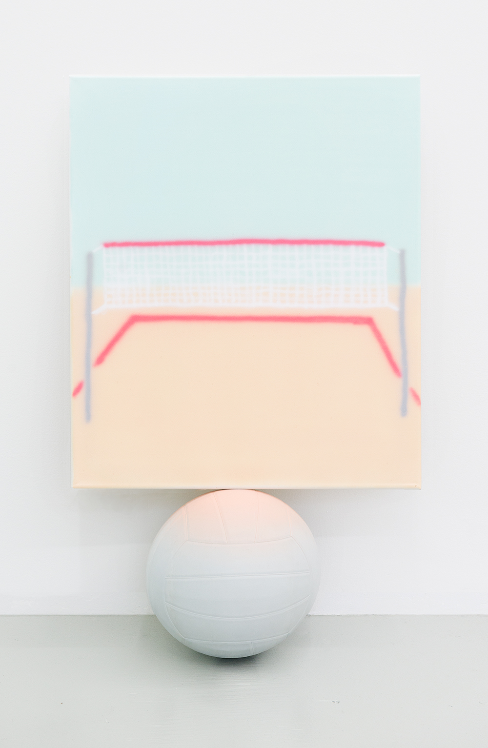 Jonny Paul Gillette Goal on volleyball ball, 2015 Acrylic polymer on canvas, volleyball  2015