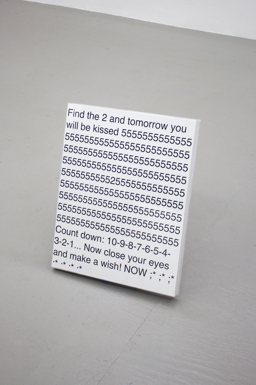 Rachel Growden  close your eyes, 2014 Inkjet print and acrylic box frame