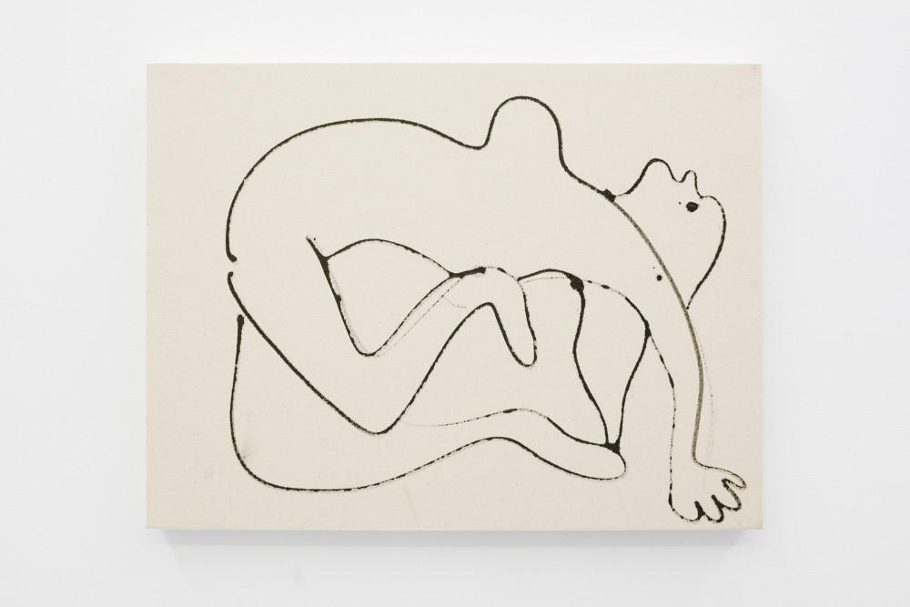 Alison Veit Angela, 2015 Ink on canvas