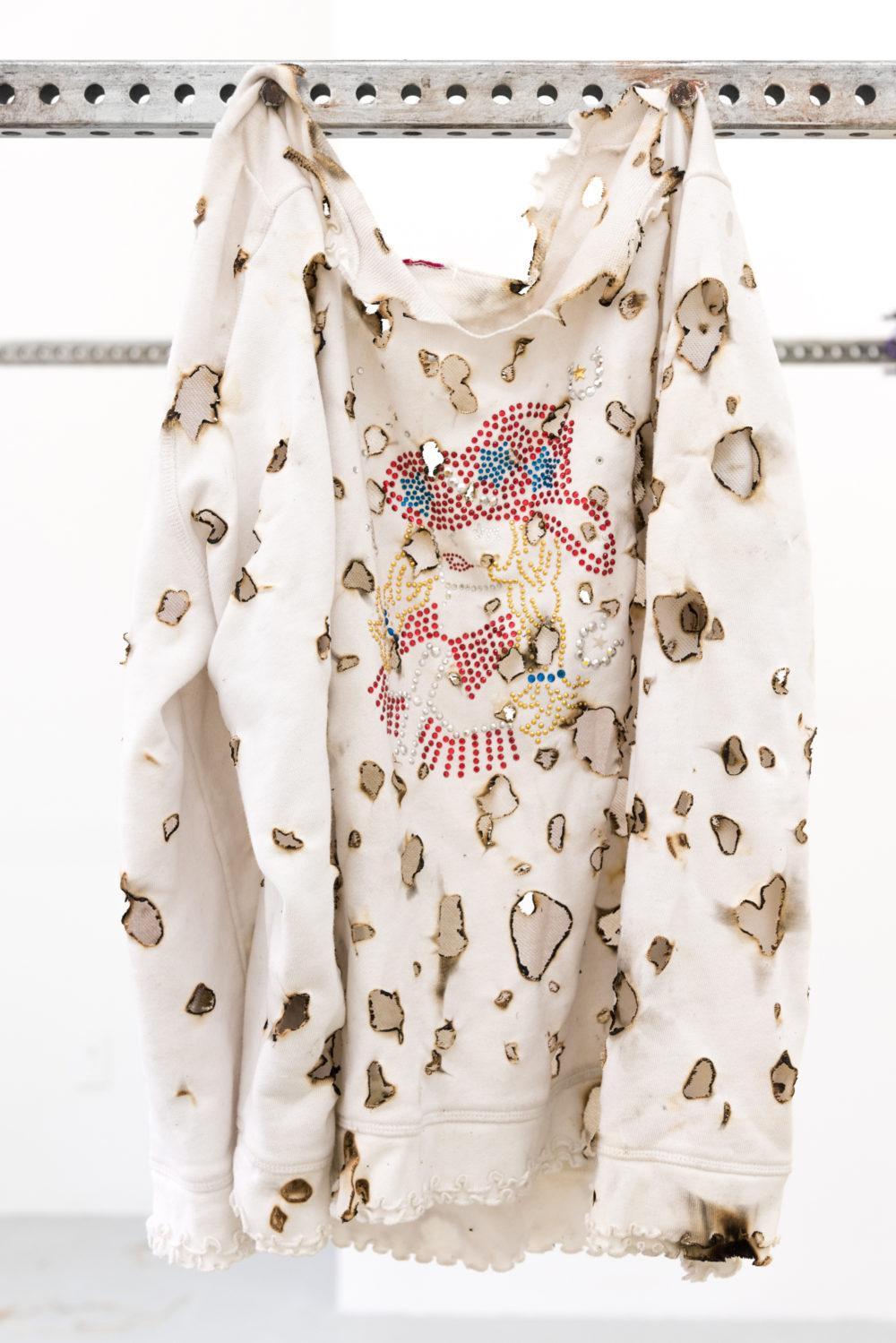 Gunnar Tchida Untitled, 2016 Bedazzled sweatshirt
