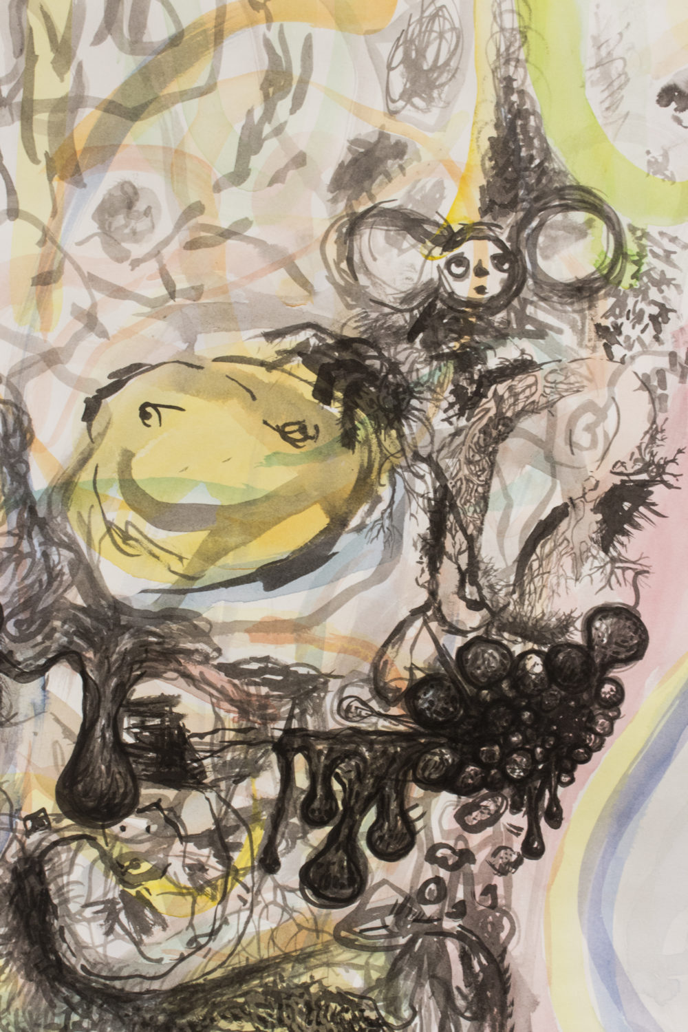 Betty Roytburd Untitled (Detail), 2016 Watercolor, sumi ink, gouache on paper
