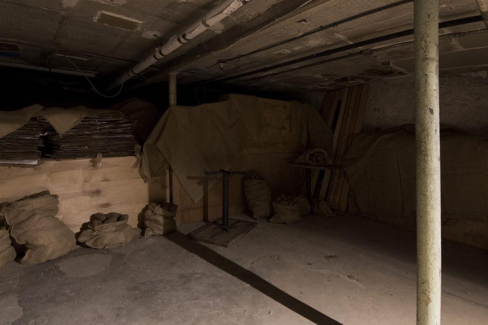 Betty Roytburd & Filip Olszewski Piwnica, 2016 Potatoes, burlap, dirt, wood, miscellaneous found items