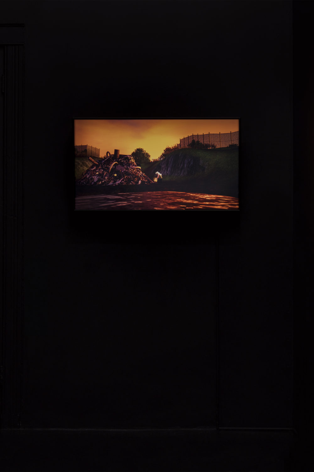 Jacky Connolly Majella (Dirty Fill), 2016 Duratrans backlit film, fluorescent light box