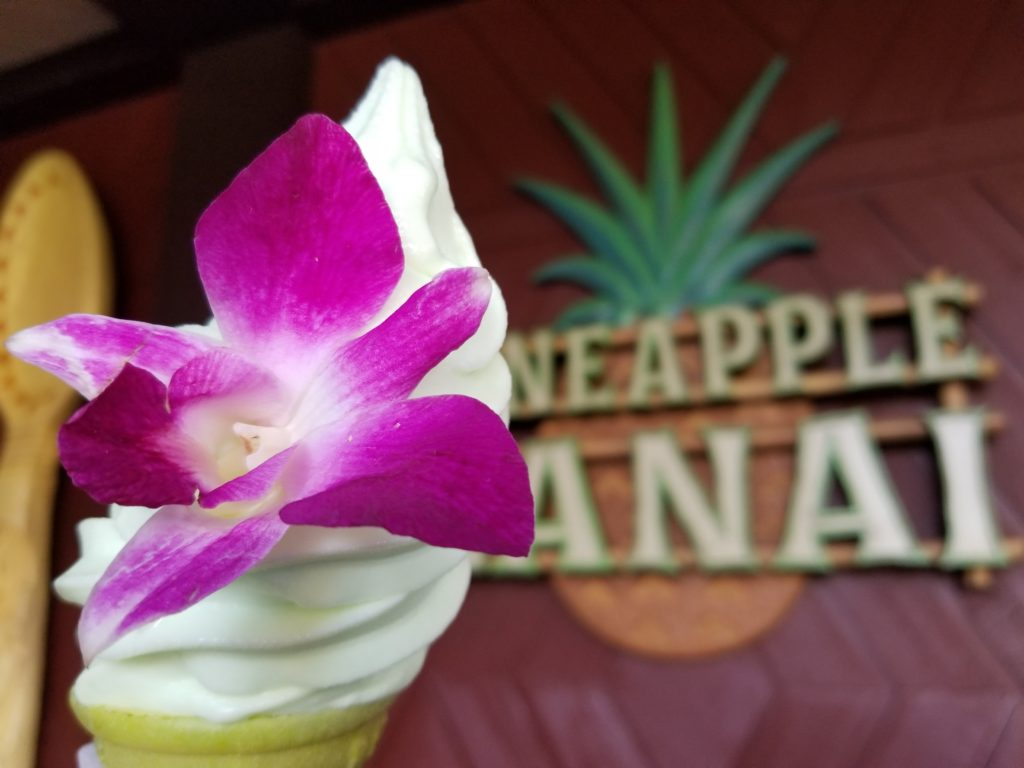The Te Fiti Cone is made with Lime Dole Whip