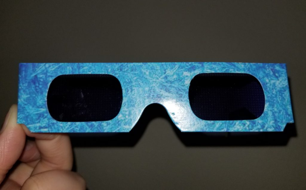 The party favor for the Frozen Ever After Dessert Party - the snowflake effect glasses.