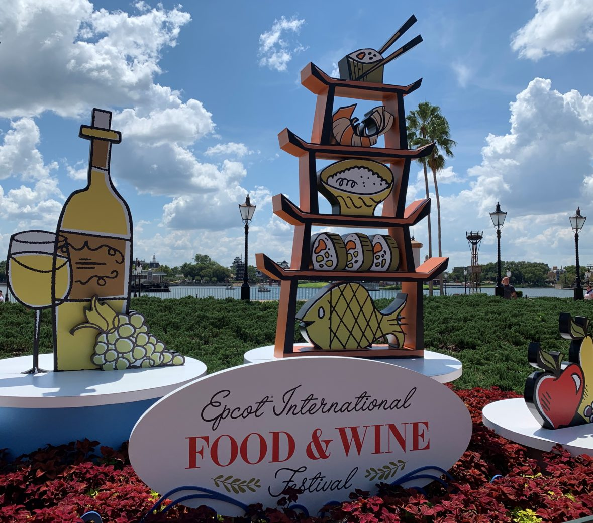 Signs with Food for the Epcot Food and Wine Festival