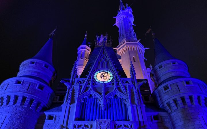 Cinderella Castle in the Magic Kingdom Showing the Clock After Midnight for the Disney Princess New Year's Resolutions
