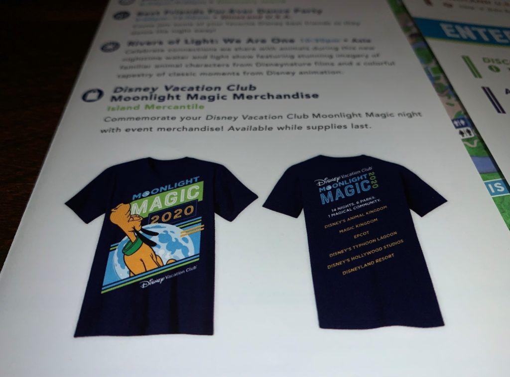 Exclusive Merchandise for DVC Moonlight Magic 2020