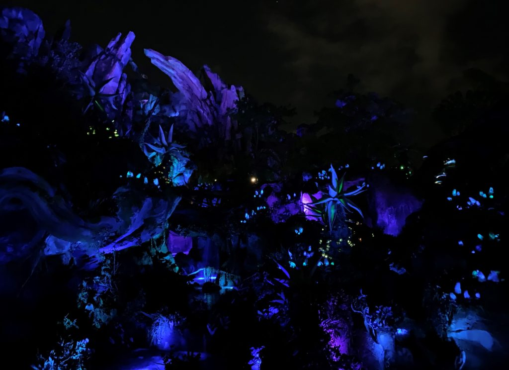 Pandora in Animal Kingdom at Night