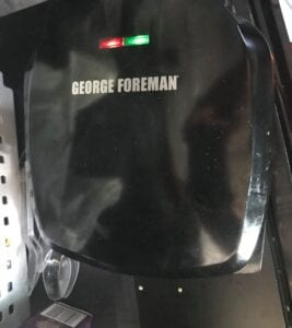 Brandon's George Foreman grill he keeps in his truck