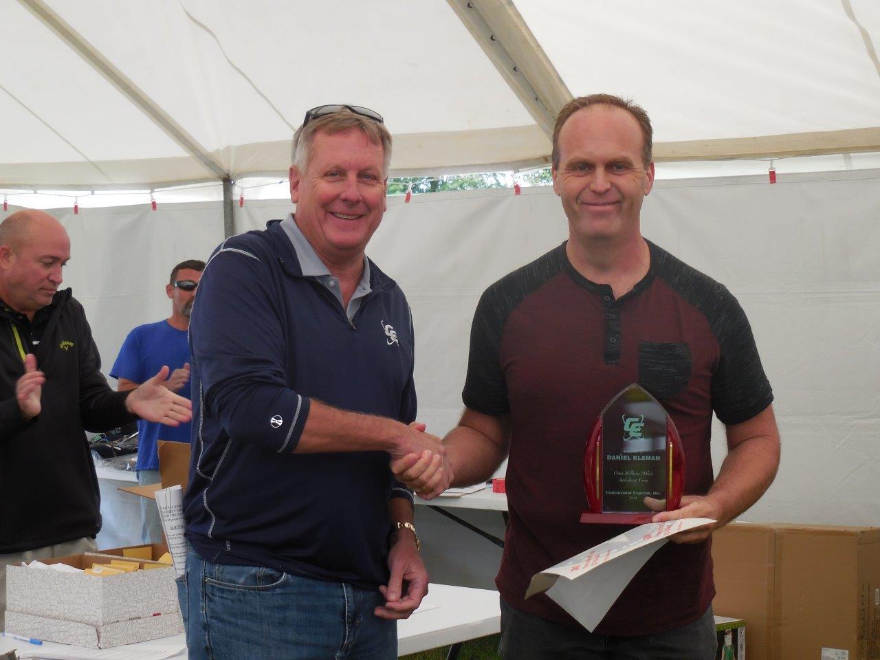 Previous Continental Express Million Mile Award Recipient - Driver Appreciation Picnic 2019