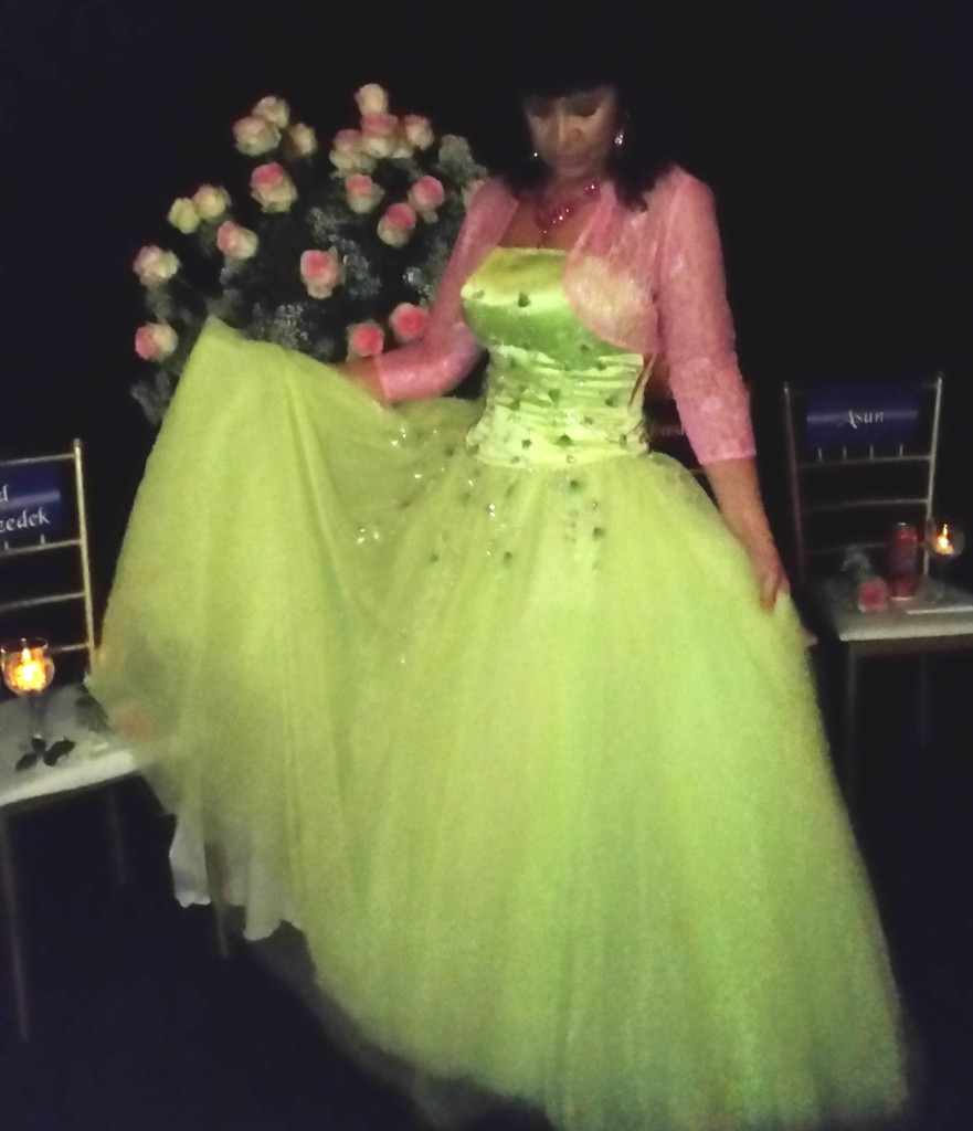 """Mahara Brenna - MC Diamond Heart Conclave Montreal """" Sometimes it's all about the dress."""""""