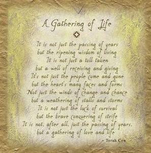 Gathering of Life Terah Cox